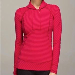 Lululemon Think Fast Pullover Red and Pink Size 8